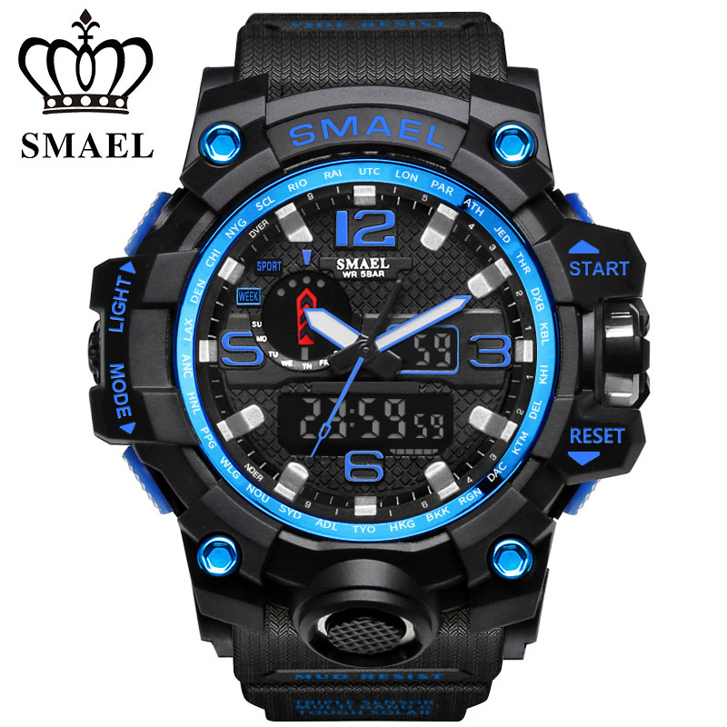 2018 Top Brand Shock Military Luxury Watch Men 50M Waterproof Sport Watch Men Watches Man`s Clock Camping Dive relogio masculino sinobi men watch s shock military watch for man eagle claw leather strap sport quartz watches top brand luxury relogio masculino