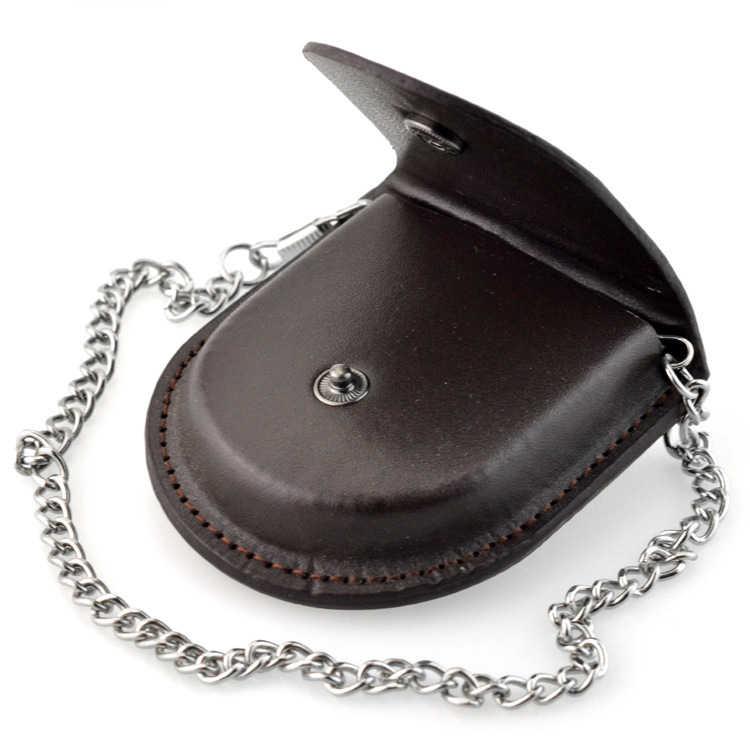 VINTAGE นาฬิกาหนังกระเป๋าผู้ชายผู้หญิงของขวัญโบราณกระเป๋า 37.5 ซม.