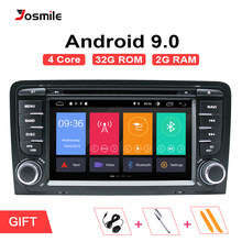 Android 9.0 Reprodutor multimídia Carro AutoRadio Para Audi 2Din A3 8P S3 RS3 2011DVD Sportback 2003 2004 2005 2006 2007 2008 2009 2010(China)