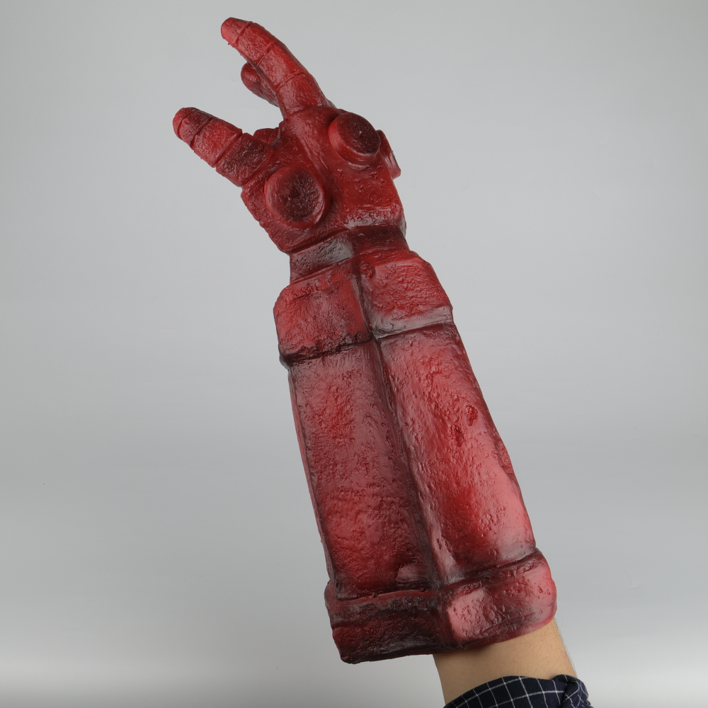 Hellboy Rise of the Blood Queen Glove Right Hand Cosplay Gloves Accessories Armor Latex Hand Gauntlet Party Halloween (18)