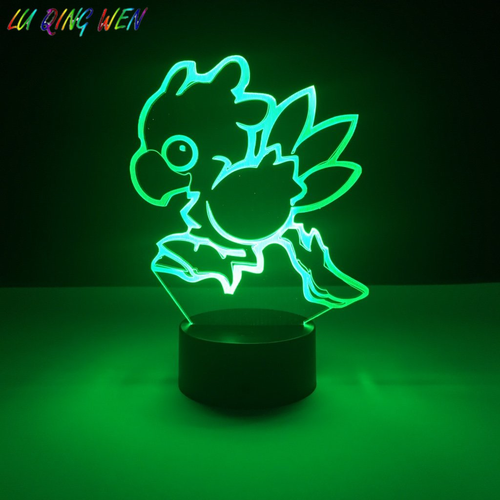 Bambini Led Nigh Lampada Chocobo Final Fantasy Nightlight per la Stanza Del Bambino Decor Light Ragazzi Best Regalo di Volare Uccello 3d Led luce di notteBambini Led Nigh Lampada Chocobo Final Fantasy Nightlight per la Stanza Del Bambino Decor Light Ragazzi Best Regalo di Volare Uccello 3d Led luce di notte