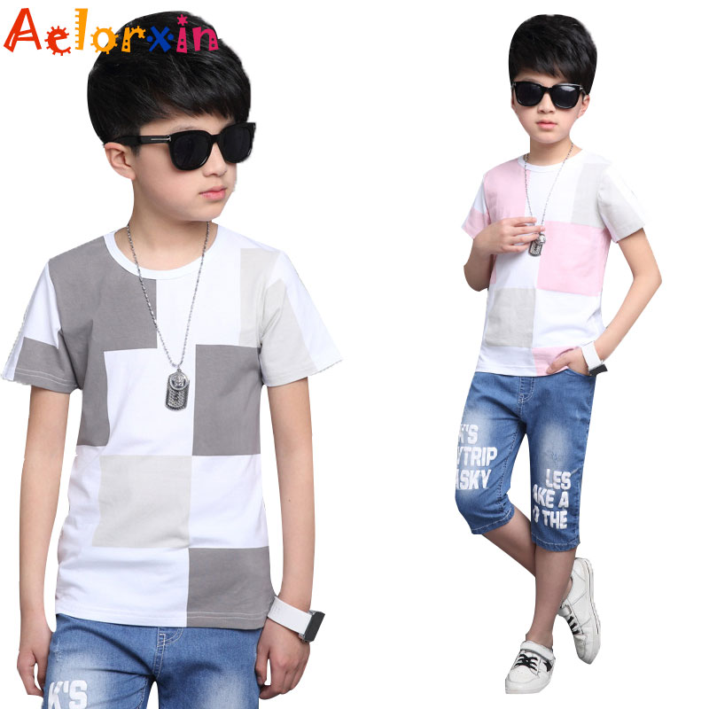 T shirts for boys cotton short sleeve t shirts children for What size shirt for 8 year old boy