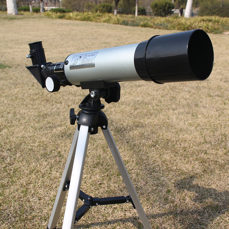 Astronomical Telescope Monocular 360/50mm 60X Magnifications with his tripod entry level 3 inches 76 700mm reflector newtonian astronomical telescope black white