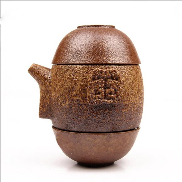 Ceramic Gaiwan and 2 Tea Cups Set