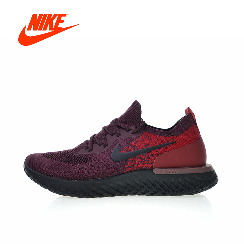 Original New Arrival Authentic NIKE Epic React Flyknit Mens Running Shoes Sneakers Breathable Sport Outdoor Good Quality
