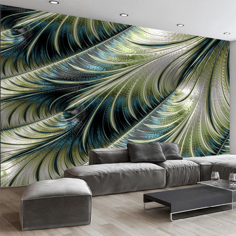 3D Wallpaper Modern Simple Feather Photo Wall Murals Living Room Dining Room Personality Decor Wallpaper Papel De Parede 3D Sala modern simple yellow flowers pearl photo wallpaper murals living room backdrop wall paper home decor papel de parede 3d paisagem