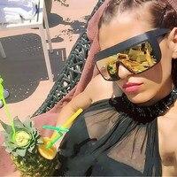 MOLGIRL Sunshine Star Fashion Oversize Sunglasses Women Flat top Square Men Sun glasses Retro Eyeglasses Oculos de sol Goggle