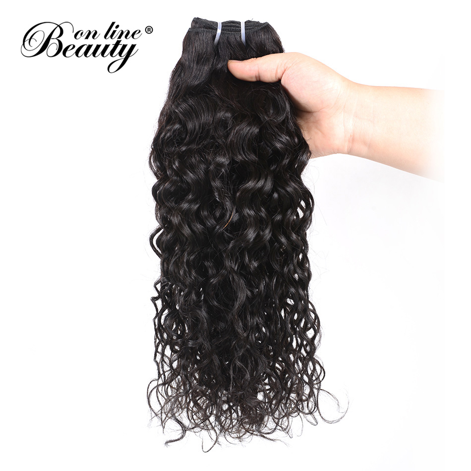 BOL Human Hair Brazilian Water Wave 100% Remy Human Hair Weave Bundles Natural Hair Extensions 1B# Hair 1pc Can Be Dyed ...