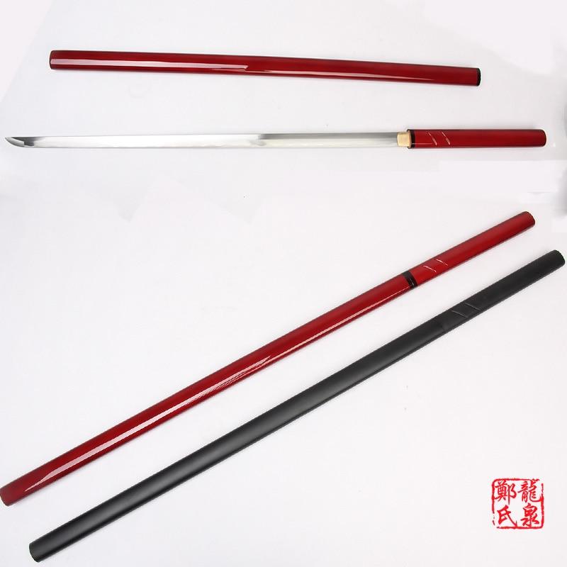 Artes marciales Supply para Handmade ZATOICHI japonés Shirasaya Samurai Katana espada aguda 1045 acero de carbono rojo/negro