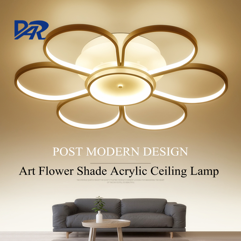 New Design 4 6 7 Heads Acrylic Rings Ceiling Lamp For Living Room Bedroom Post Modern LED Lights Luminaria Led Lampen