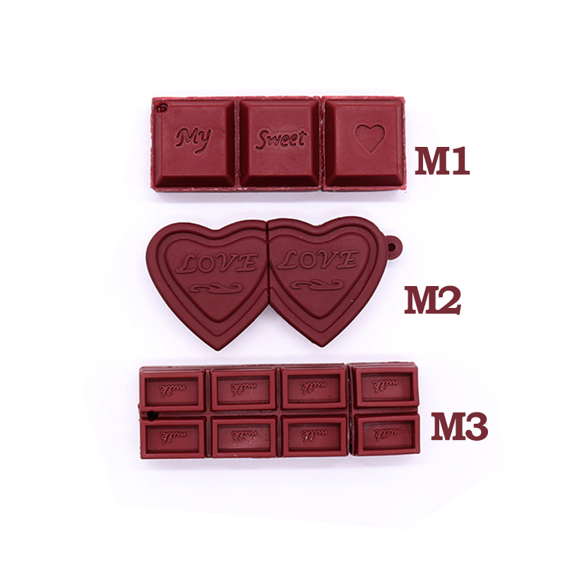 100% Real capacity mini usb flash drive 4GB 8GB 16GB 32GB 64GB cartoon chocolate memor ystick pen creative gift pendrive