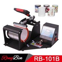 New Red Handle Metal Turn Buckle 11oz Mug Sublimation Mug Press Machine Heat Press Printer for