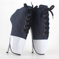 18 Cm High Heeled Sexy Ballet Shoes Pumps Bdsm Large Size Sexy High Heels Like Shoes Jeans Sapato Feminino Fetish Shoes Women