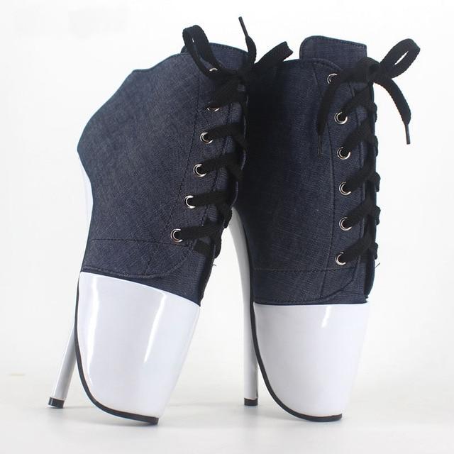 18 cm Alta-Salto Alto Sexy Bombas de Sapatos de Ballet Bdsm Tamanho Grande  Sexy 931d9b808363
