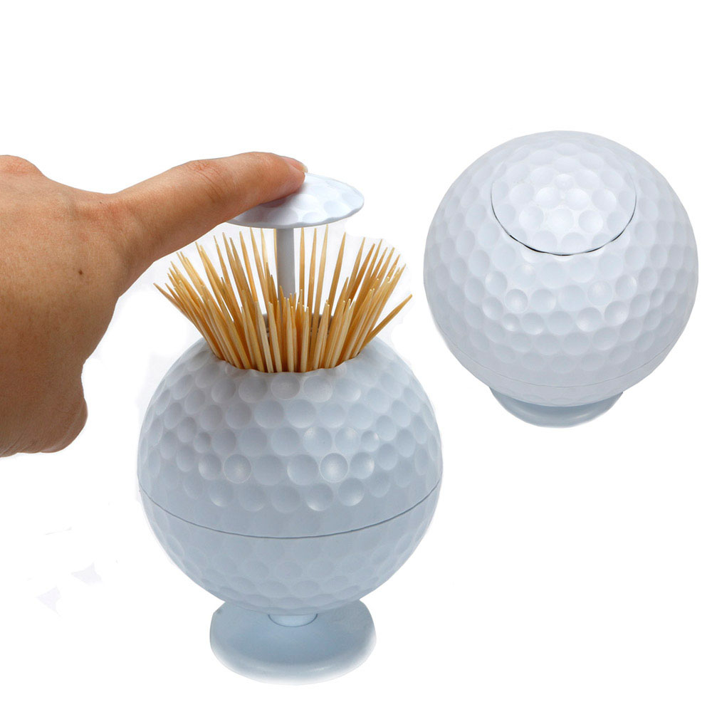 Golf Toothpick Pressing Automatic Toothpick Box Personality Portable Toothpick Bucket