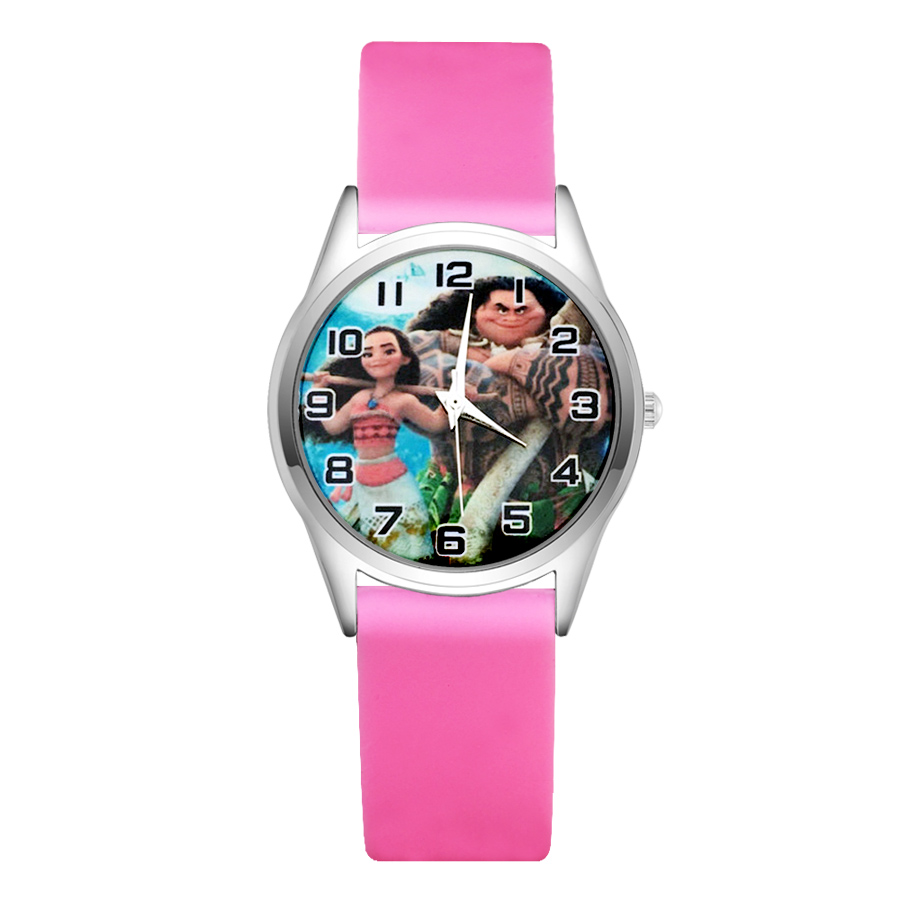 Helpful Cartoon Cute Moana Style Childrens Watches Womens Students Girls Boys Quartz Soft Silicone Strap Wrist Watch Jc37 Waterproof Watches Shock-Resistant And Antimagnetic
