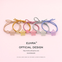EUHRA 5 Colors Shape Star Cute Jelly Bead For Girls Women Elastic Hair Bands Kid Children Rubber High Elasticity