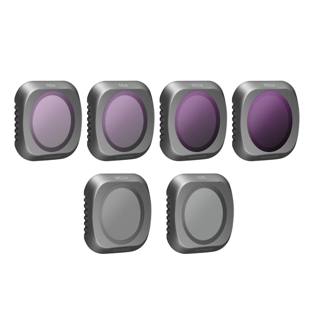 Pour DJI Mavic 2 Pro 6 pièces filtre Set objectif filtre Drone accessoires CPL MCUV ND4 ND8 ND16 ND32 caméra objectif filtres pour Mavic 2 Pro