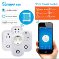 Itead Sonoff S20 Wifi Smart Socket Wireless Remote Control Timer Socket Smart Home Automation Smart Power Socket EU UK UK F Plug