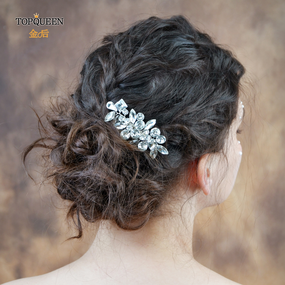 TOPQUEEN HP88 Wedding Hair Accessories Headpiece Wedding Hair Comb Wedding Bridesmaid Trendy Headdress For Women Bridal Headwear