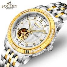 Diamond classic fashion бизнес мужчины часы автоматические механические часы стальные часы 30 м водонепроницаемые часы