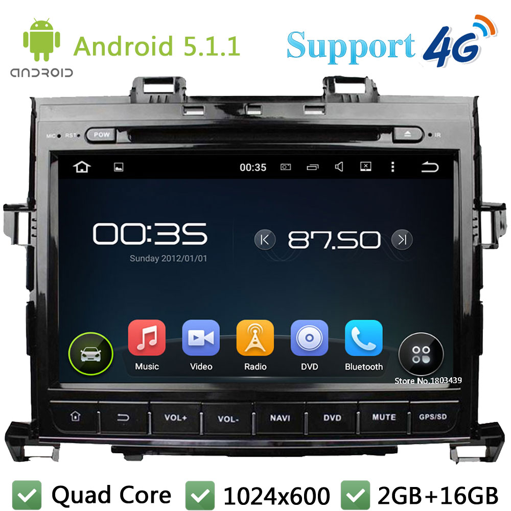 Quad Core 1024*600 9″ Android 5.1.1 Car DVD Video Player Radio Stereo USB DAB FM 3G/4G WIFI GPS Map For TOYOTA Alphard 2007-2013