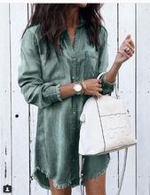Fashion Women Long Sleeve Loose Denim Shirts
