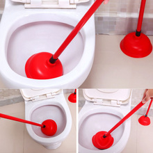 Plunger Dredger Suction Drain Buster Toilet Cleaner Sink Handle Two-Suckers Powerful