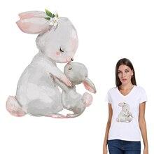 3 шт. кролики железная одежда футболка Diy украшения А-уровень моющиеся новые Parches наклейки «Ropa» аппликация на одежду подарки