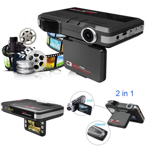 1 xmfp английский/России 2in1 5mp Видеорегистраторы для автомобилей Регистраторы + радар-детектор лазерного скорости трафика оповещения