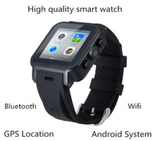 Smart Watch ips dual- Kern sync bluetooth wifi gps-pedometer herzmonitor 512mb ram 4gb SmartWatch für android ios
