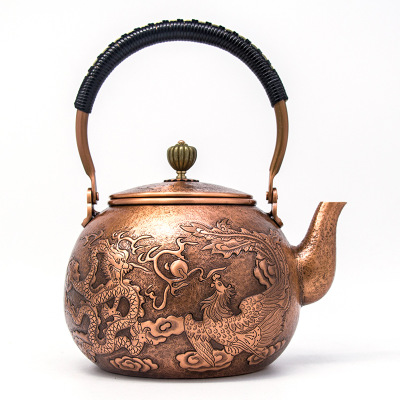 Handmade Antique Dragon Copper Teakettle