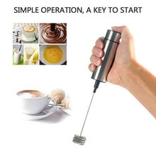 Electric Handheld Milk Frother Foamer Egg Beater Double Spring Triple Spring Whisk Head Stainless Steel Drink Mixer Coffee Maker цена