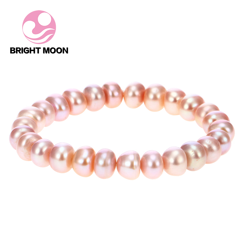 Us 26 13 High Grade Freshwater Pearl Bracelet Las Hand Woven Light Surface Micro Defect Bracelets For Women Diy043 In