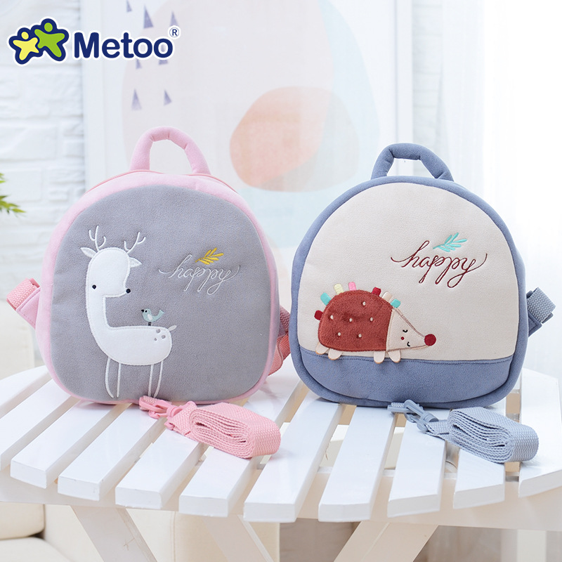 Prevent Fall Cute Cartoon Traction Bags Kids Doll Plush Backpack Toy Children Shoulder Bag for Kindergarten Girl Metoo Doll