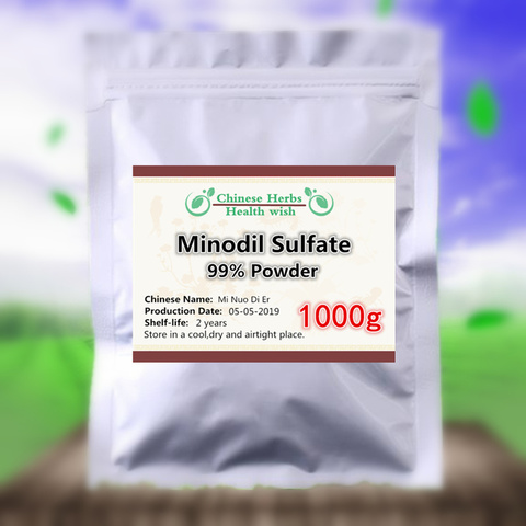 1000g 99 po puro do sulfato do minoxidil cura a perda de cabelo promove o