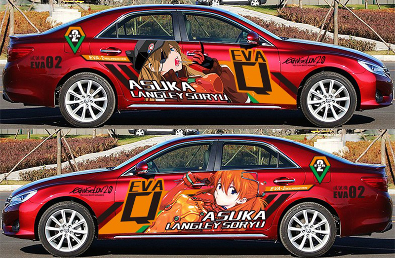Aliexpress Com Buy Tailor Made Japanese Cartoon Car Stickers