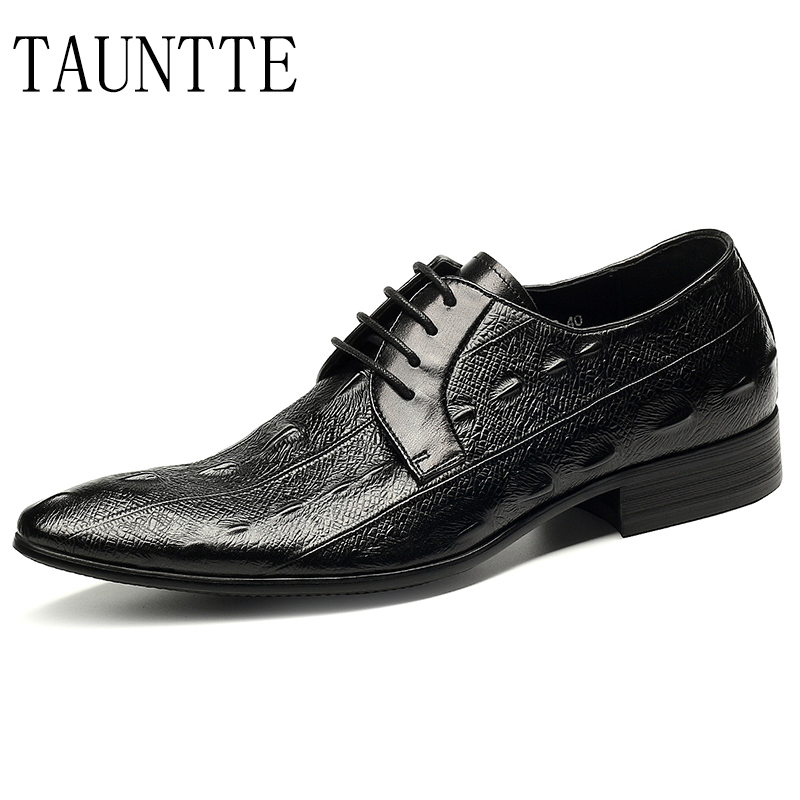 Luxury Genuine Leather Business Casual Shoes For Men Point Toe Formal Shoes Dress Office Wedding Shoes vintage men dress shoes real genuine leather men s brand designer for party office wedding casual walking formal business shoes