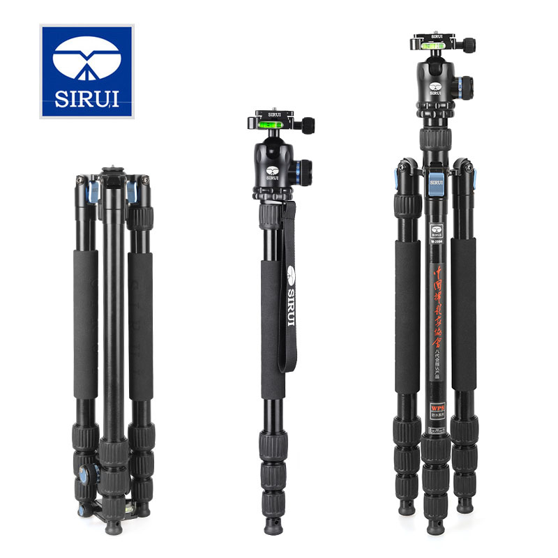 SIRUI W-2004 W2004 Tripod Aluminum Flexible Monopod For Camera Water/Sand Proof Triopd With K20X Ball Head DHL Free Shipping aluminium alloy professional camera tripod flexible dslr video monopod for photography with head suitable for 65mm bowl size