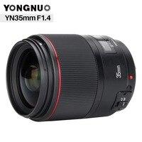 YONGNUO YN35MM F1.4 Standard Wide Angle Lens for Canon Bright Aperture Prime DSLR Camera Lenses for 600D 60D 5DII 5D 500D 400D