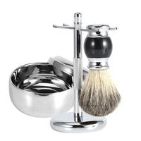 Razor Shaving Set Shaving Brush For Men Old fashioned Metal Manual Beard Razor Rack With Bowl For Home Use