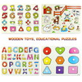 Baby Wooden Vegetable Jigsaw Children Grasping Puzzle Toys Early Learning & Educational Hand Grasp Wooden Plate Toys