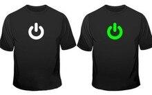 Sexemara Glow In The Dark Power On Print Gadget Geek Mens T-Shirt Printed nerd t shirts t shirt men graphic tees