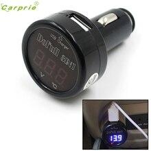 Довольно Авто 12 В 24 В USB Зарядное устройство светодиодный цифровой термометр Напряжение Батарея вольтметр буа