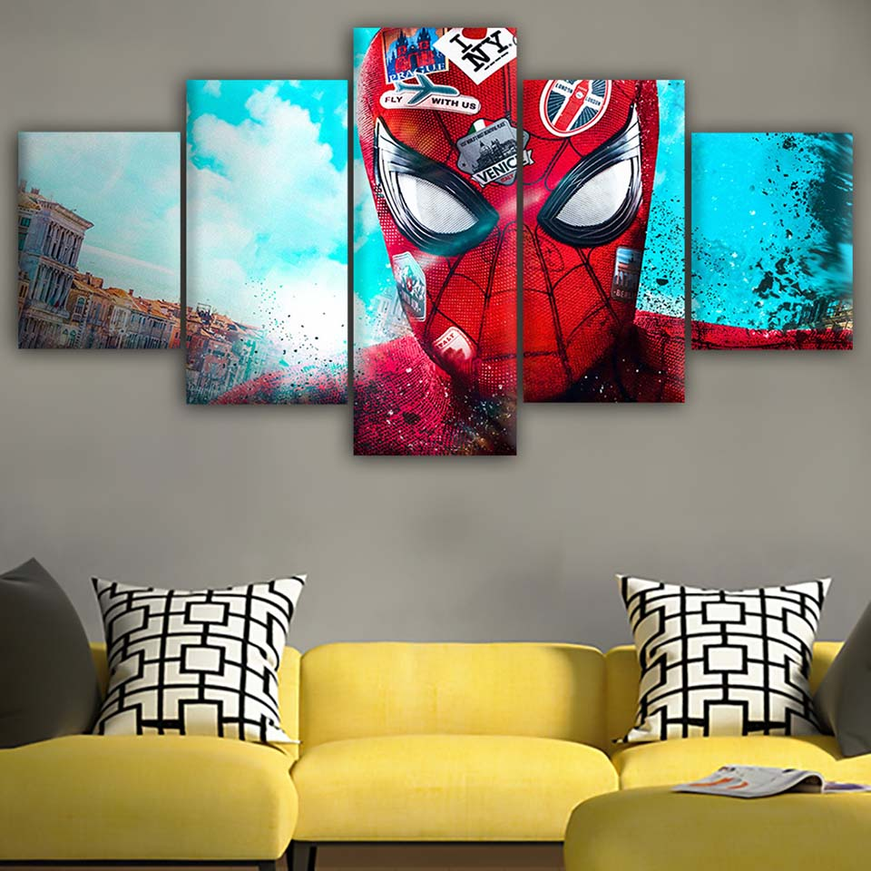 Canvas-Posters-Home-Decor-Wall-Art-Framework-5-Pieces-Spider-Man-Love-NYC-Paintings-For-Living (3)
