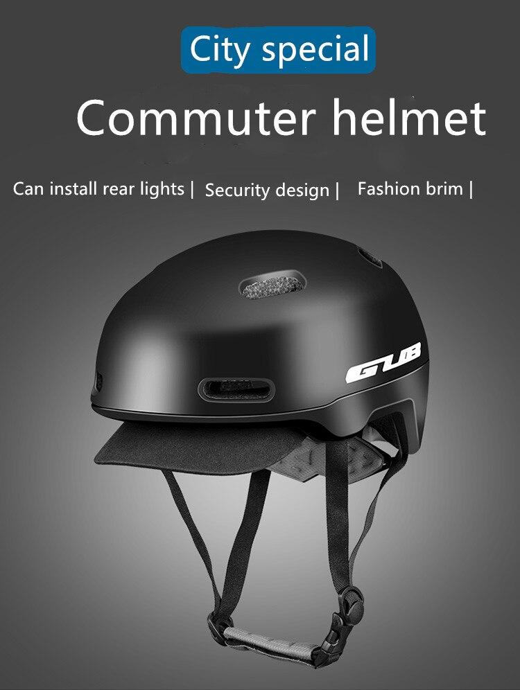 GUB CITY PRO шлем PC + EPS (интегрированная форма) Ретро, городской Досуг велосипедный шлем 54-58 см черный оранжевый