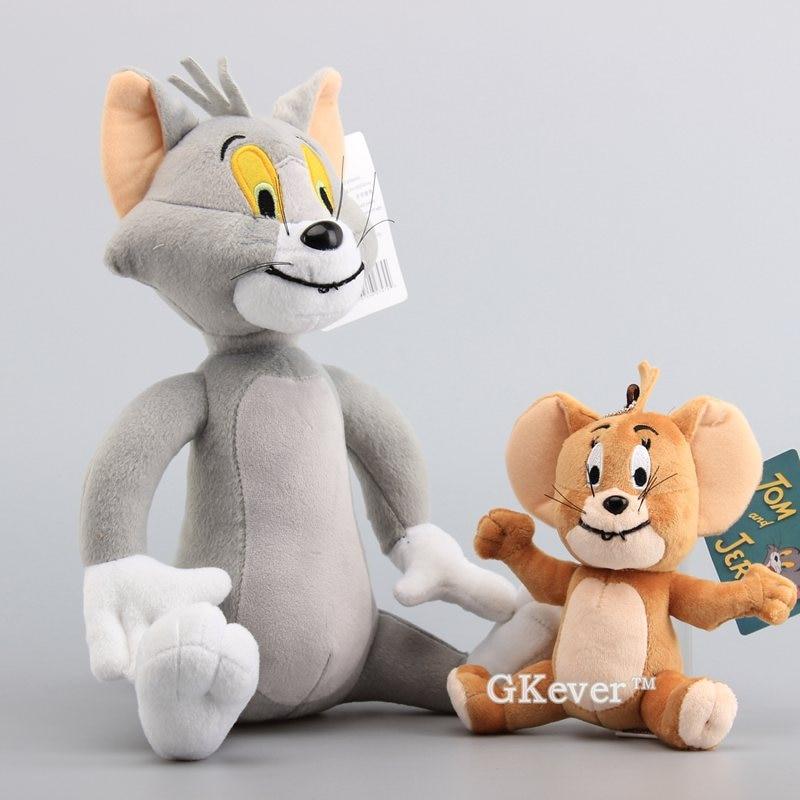 2 Pcs/Set Soft Stuffed Animals Toy Dolls Funny Cat Tom Jerry Mouse Classic Plush Toy Dolls 15-30 CM Gift