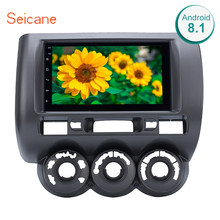 "Seicane 2din Android 8.1 9 ""Mobil Radio Multimedia Player WIFI GPS Head Unit untuk 2002 2003 2005 2006- 2008 Honda Jazz (Manual AC RHD)(China)"