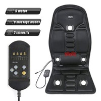 Heated back massage seat hat car home office seat massager thermal vibration pad back massage chair