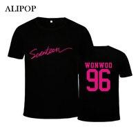 Youpop KPOP Korean Fashion SEVENTEEN 17 Album Concert Style WOOZI WONWOO Cotton Tshirt K POP T